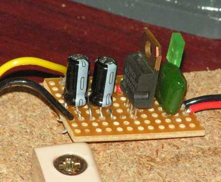7805 based 5V power regulater