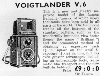 V6 advert from 8th September 1937