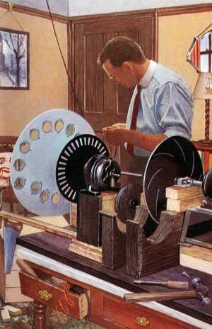 Ladybird book picture of John Logie Baird at work