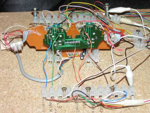 Closeup of interface wiring