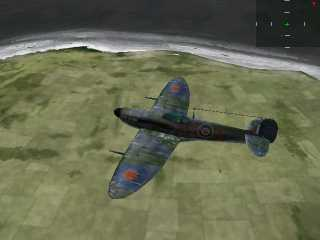 Good looking Spitfire - not like Jane's Attack Squadron