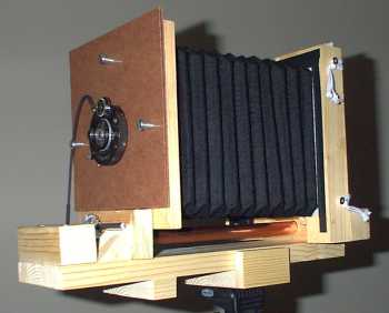 Photo of 4x5 homemade camera - ready for use