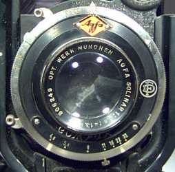Close up of lens and shutter