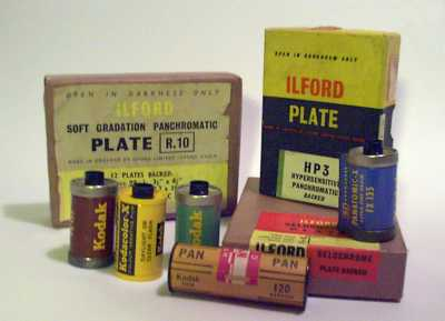 Selection of old film packaging